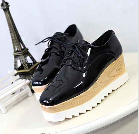 2017 New Sexy Women Fashion lace-up ladies Shoes Vogue Wedges RED APRICOT BLACK High Heels Platform Pumps<br><br>Aliexpress