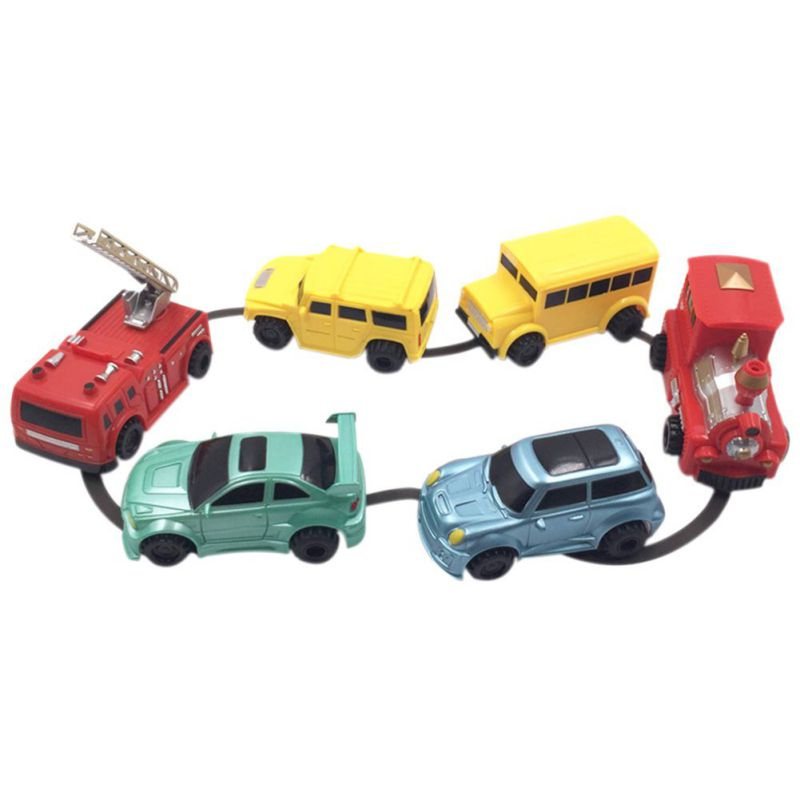 1pcs Mini Magic Pen Inductive Toy Car Model Series Puzzle Follow Any Line You Draw Toys For Children Boys Kids Birthday Gift 17