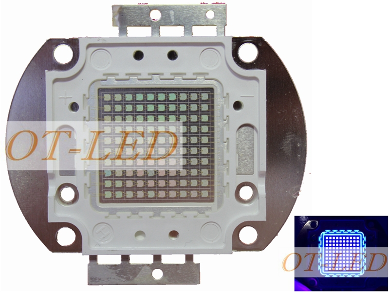 High Power LED Chip 100W UV 365nm 370nm 375nm 380nm 385nm 390nm 395nm 400nm 405nm 410nm 425nm COB Emitter 100W Ultraviolet Light<br>