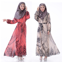Fashion Muslim Dress Abaya In Dubai Traditional Islamic Clothing for women Print Dress Turkish Abaya Middle East Arab Robes