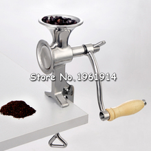 Home Hand Coffee Bean sesame Stainless steel manual Coffee Mill stand operation Coffee Grinder Convinent(China)