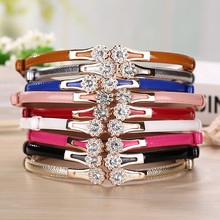 2017 New Fashion Accessories Decorative Gold Tone Alloy Buckle Paint Thin Belt Girdle Belt Female Belts for Women Ladie's Girl