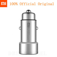 Original Xiaomi Mi Car Charger Dual USB Max 5V/3.5A Metal Style(China)