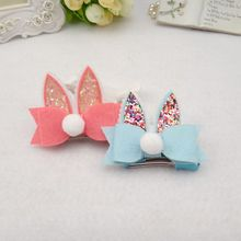 Fashion Cute Girls Rabbit Ears kids Hairpins Children Headwear Girls Lovely Spring Hair Clips Party Decoration Hair Accessories(China)