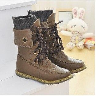Womens Lace-Up Buckle Strap Ankle fashionable Flattie Boots Shoes  BAOK-da8f<br><br>Aliexpress