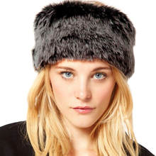 Hot Winter Faux Fur Head Rings Hats Beanies Women Ear Warm Fluffy Russian Hat Ring Elastic Circle Hair Band Ski Caps Headwear(China)