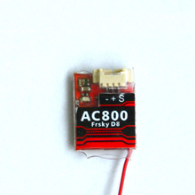 2.4Ghz 7ch Receiver FrSky D8 AC800 CPPM SBUS Telemetry Receiver for X9D Plus X12S X9E Indoor FPV Racing Quad Tiny 90mm 125 mm(China)