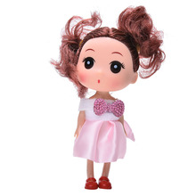 Kids Toys Soft Interactive Baby Dolls Toy 12CM Mini Doll Gifts For Girls New Color Random 1PC Wedding Decoration(China)