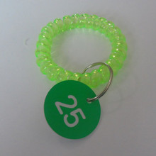 Hot sale green plastic bracelet coil extension springs supplier ,Type p6