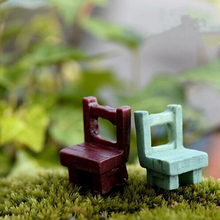 Mini Tables Chairs Furniture Figurine Crafts Landscape Plant Miniatures Decors Lovely Fairy Resin Garden Ornaments Garden supply(China)