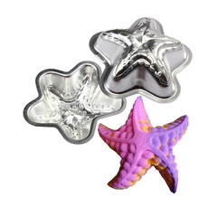2pcs Set Crafting Metal Bath Bomb Mold Bath Fizzy Star Shape DIY Metal Molds DIY cake muffin dessert maker moulds drop #615(China)
