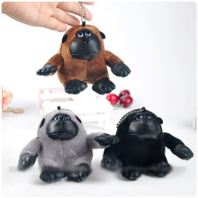 Gorilla King Kong Plush Pendant Toys Chimpanzee Monkey Bag Pendants Keychain Dolls 8cm 8pcs/lot Random Color