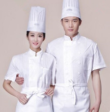 short sleeve chef uniform summer chef clothing white chef clothes cook wear clothes(China)