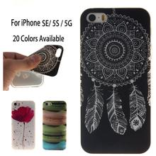 2016 Fashion Painted Pattern TPU Silicone Soft sFor iPhone SE 5S 5 Case For iPhone 5G Cell Phone Case Cover