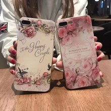 Newest Flowers pattern For iphone 6s Case soft TPU For Apple iPhone 6 6S plus case covers HD 3D printing TPU Flower Pattern