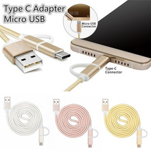 2017 New 2 in 11M Combo USB Reversible Type C Adapter and Micro USB Braided Cable Fast Charging Data for samsung S8plus