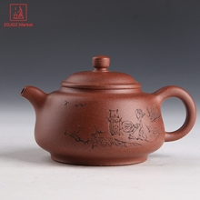 Chinese Tea Ceremony Style Yixing Teapot Handmade Clay Tea Pot Puyu Kettle Safe Packaging(China)