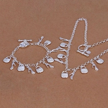 Silver plated jewelry sets, sterling-silver-jewelry jewelry set High Heels & Purse /KPPGZBGV 0