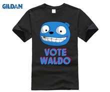 Футболка GILDAN Black Mirror Vote Waldo(Китай)