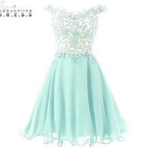 Robe demoiselle D'honneur Mint Green Lavender Lace Short Bridesmaid Dresses 2017 Wedding Dress Vestido de Festa de Casamento