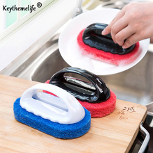 Cleaning Brush with Handle Pan Brush Sponge Brush Lampblack machine brush Kitchen bathroom Cleaner Home Use Cleaning Tool FA