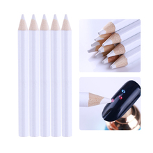 10Pcs White Wax Nail Dotting Pen Rhinestone Beads Gems Picker Pencil Easily Picking Wood Manicure Nail Art Tool Decoration(China)