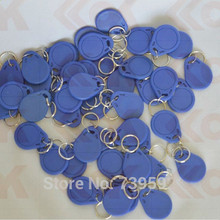 1000PCS/Lot ISO14443A RFID 13.56MHz 1K Memory Re-writable Waterproof S50 Smart IC Key Fobs