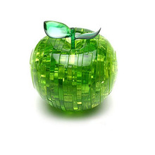 LeadingStar Apple Model DIY Crystal Flashing  Puzzle Green Color 3D Jigsaw Toy Hot Selling Speed Puzzle Toys for children