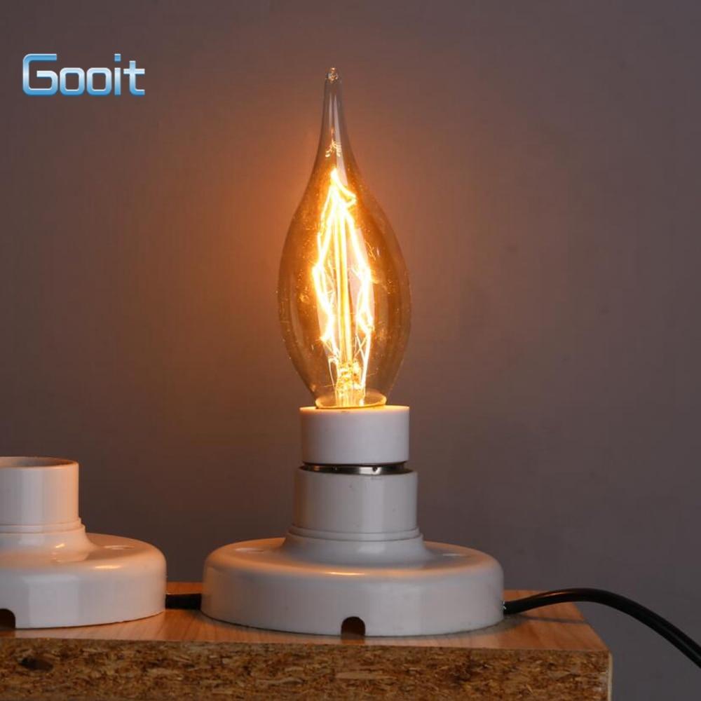 Retro Candle Lamp Tailed 40W 220V Retro Edison Art Decoration Retro  C35 long tail bent end Light Bulb E14 Antique lamps Bulbs<br><br>Aliexpress