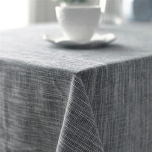 Top Japanese-style Striped Table Cloth Linen Cotton Soft Tablecloth for Banquet Home Indoor Living Room Hotel Decor Table Cover