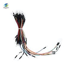 65pcs Jump Wire Cable Male to Male Jumper Wire for Arduino Breadboard, Free Shipping