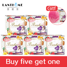 Buy five get one Thailand Fruits Soaps Bumebime body whitening soap whitening skin smooth Bath Body Deep Cleansing Care 6pcs(China)