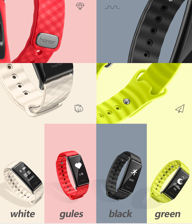 New original HUAWEI glory Glory play Bracelet A2 Running time, exercise, heart rate monitoring For Android xiaomi Bracelet 2 IOS 10