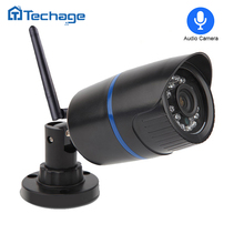 Techage 720P 1080P Wireless IP Camera Indoor Outdoor Waterproof P2P ONVIF WIFI CCTV Security Camera Motion Detect w Audio Record