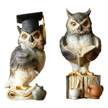 Nordic Wind Nordic Art Artistic Personality Owl Creative Little Decoration Desk Bookcase Room(China)
