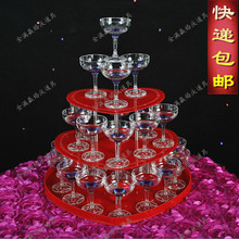 3 tier Wedding champagne tower wedding Supply props aryclic red 3 layers champagne tower wine tower champagne tower