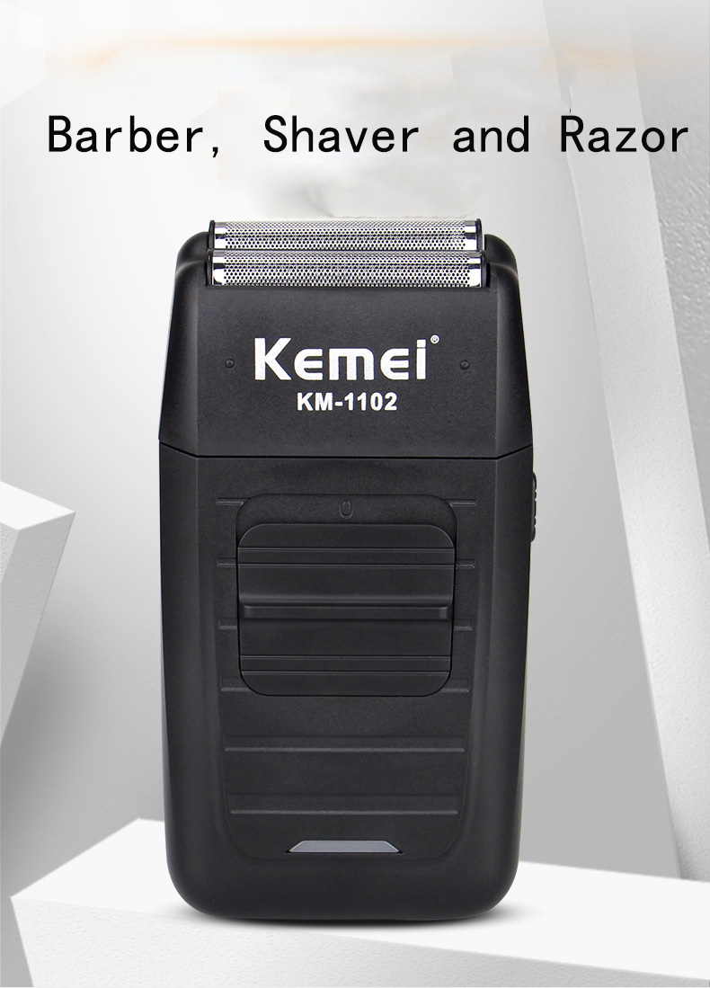 Kemei KM-1102 Rechargeable Cordless Shaver for Men Twin Blade Reciprocating Beard Razor Face Care Multifunction Strong Trimmer Barber (4)