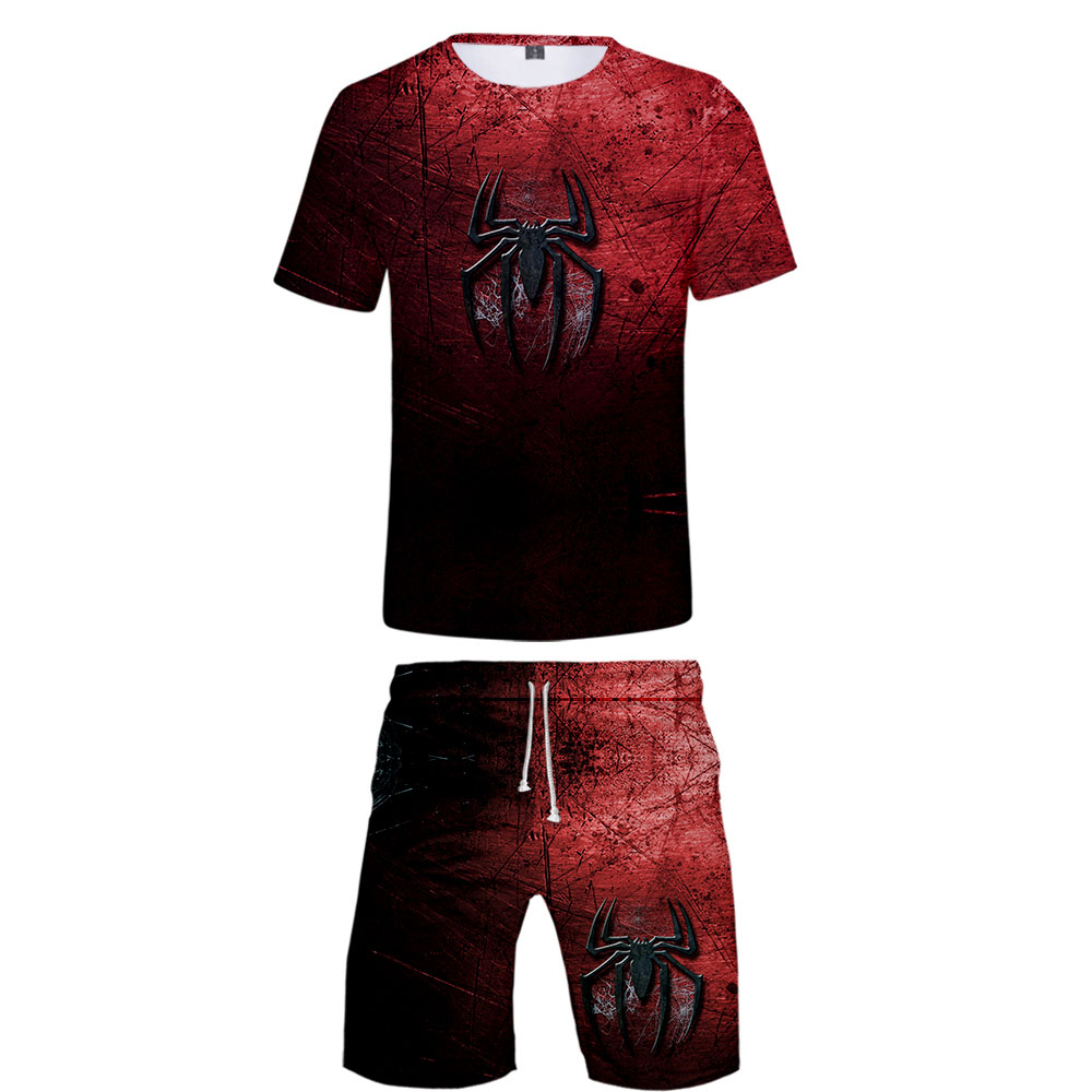 Spider man far from home tshirt Harajuku 3D T-shirts teenager two piece set Short Sleeve Kpop Print Tops Tees Street style