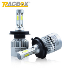 RACBOX S2 Car LED Headlight Bulb H1 H3 H4 H7 H8 H9 H11 H13 9005 HB3 9006 HB4 LED Fog Lamp Light 72W 8000LM White 6000K 12V 24V
