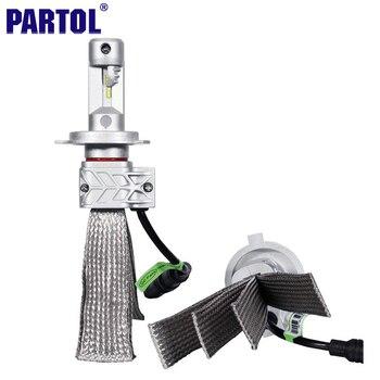 Partol CREE Puces H4 H7 H13 H11 9005 9006 Voiture LED Phare ampoules 72 W 8000LM 6500 K Unique Salut-Lo Faisceau CSP LED Projecteur DRL Lumière