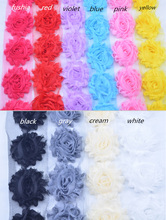 "New 2.5 "" Chiffon Rose Trim Shabby Flowers yard Shabby Chiffon Flowers For Hair accessories 10 colors for selection 20 yard/lot"
