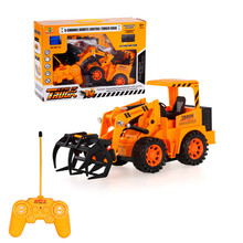567TOYS 567-12 1/18 5CH RC Timber Grab Engineering Truck RC Toys Gift for Boys Remote Control Truck(China (Mainland))