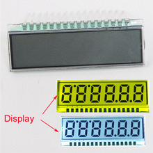 EDS826 6-Bit TN LCD Display Module 40*14*2.8mm 3.0V 8 Characters LCD Screen Digit Clock Backlight