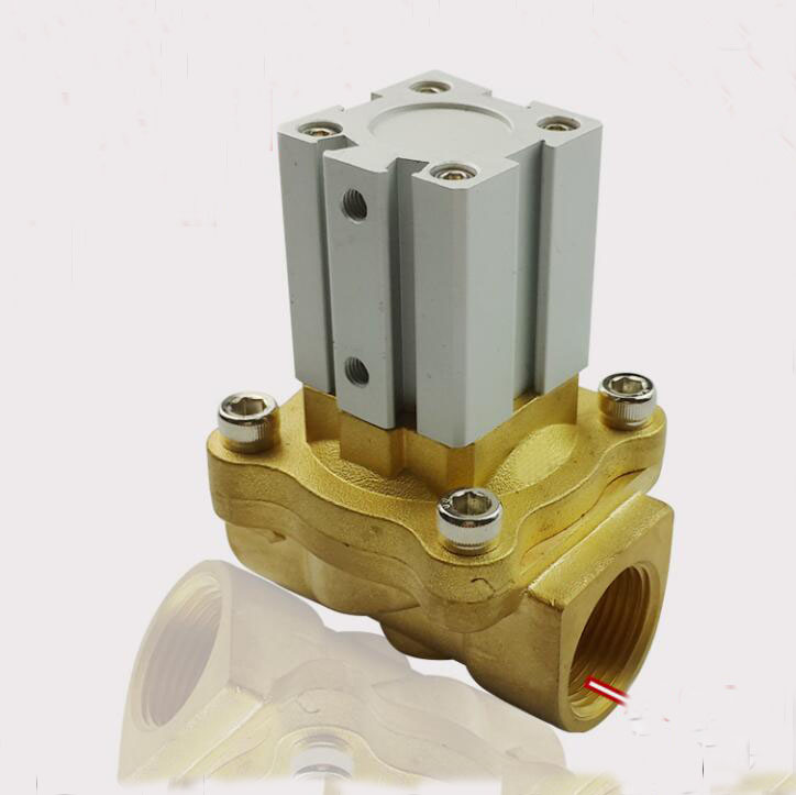 3/8  2 Way 2 Inch Direct Acting Brass Air Control Solenoid Valve<br>