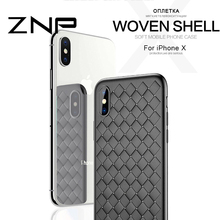 ZNP Luxury Ultra Thin Slim Back Cover Cases For iPhone X 10 Case Weave Striae Phone Cover Soft TPU For iPhone X 10 Case(China)
