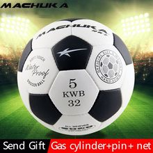 MACHUKA Men's Official Standard 5# Highly PU Leather Football hand sewn Training&Match Soccer ball Wear-resistant and durable
