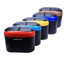 Car Auto Trash Garbage Dust Rubbish Bin Can Box Holder Hook Random Colors