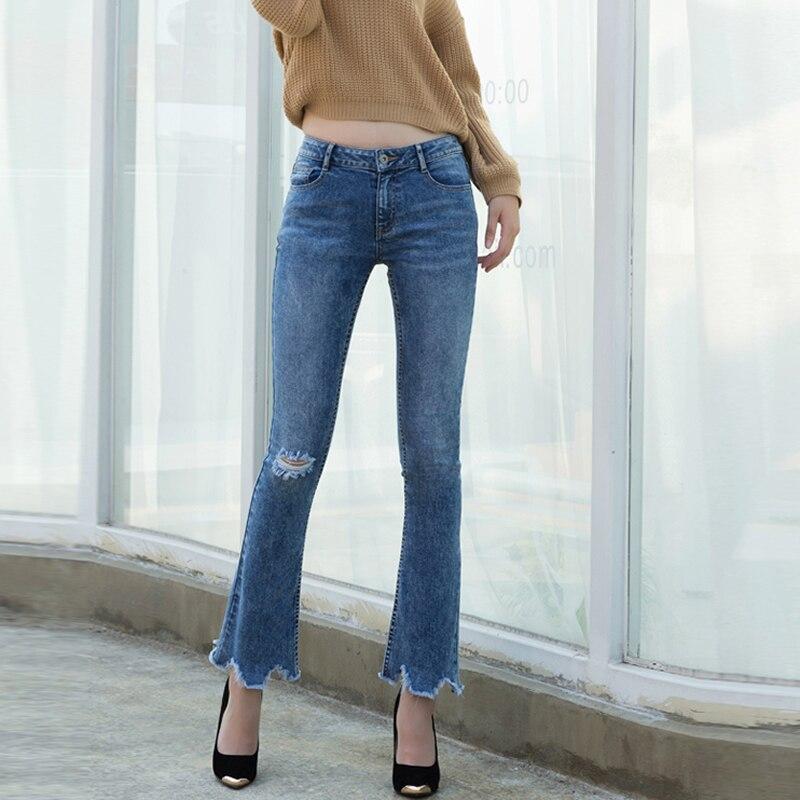 Denim bell-bottom Women Jeans fraye blue boyfriend jeans for women black dark blue pantalon femme jardineira feminina mom jeansОдежда и ак�е��уары<br><br><br>Aliexpress