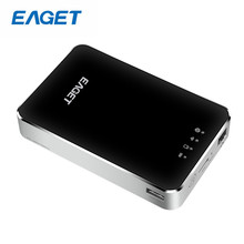 Eaget A86 Wireless High Speed WIFI Hard Disk Drives USB 3.0 1TB With 3G Router 3000mA Battery Mobile Power Bank