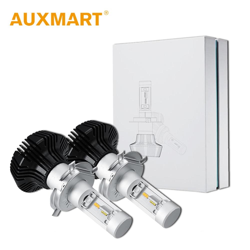 Auxmart Car LED Headlight Kit 50w H4 H7 H11 9005 HB3 9006 HB4 H13 LED Head Lamp Fog Light Single Beam Far Dipped Beam Hi Lo Beam<br>